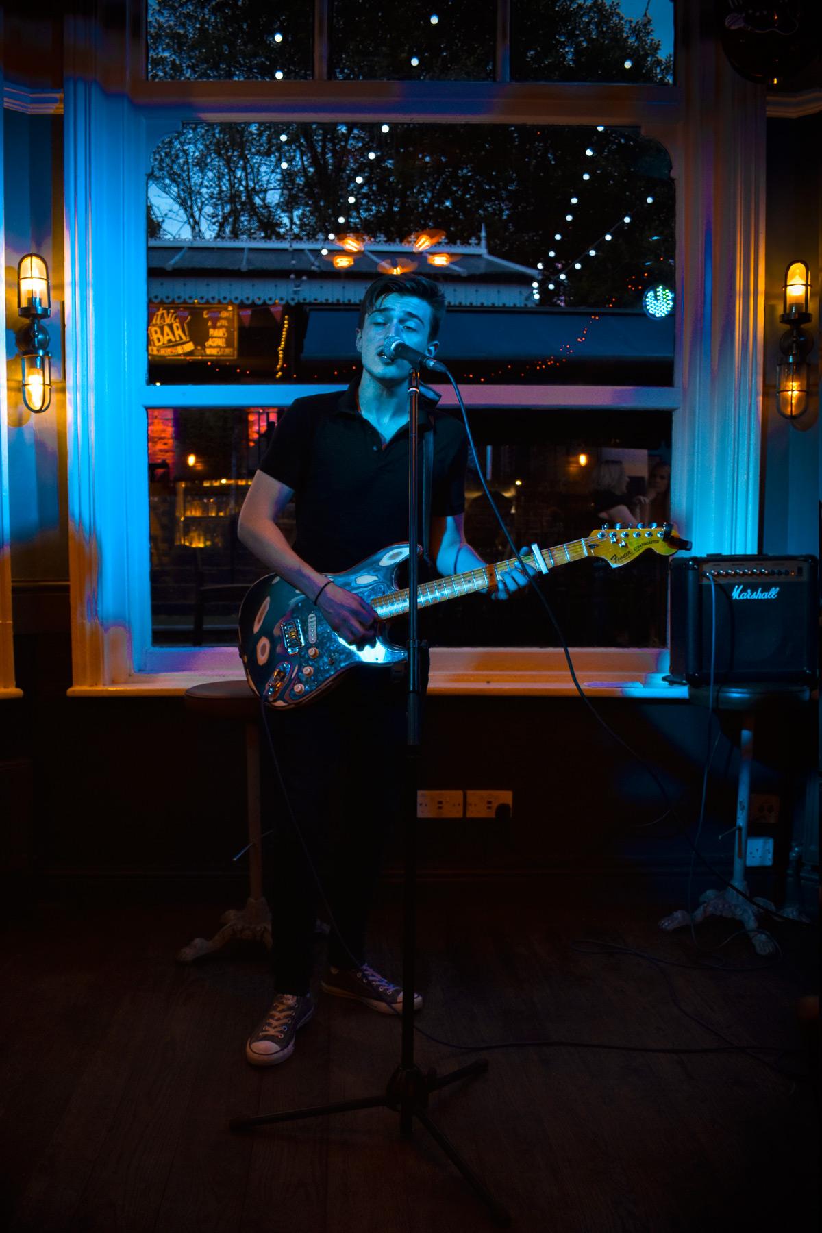 Sean Duggan performing at The Station Solihull Birmingham