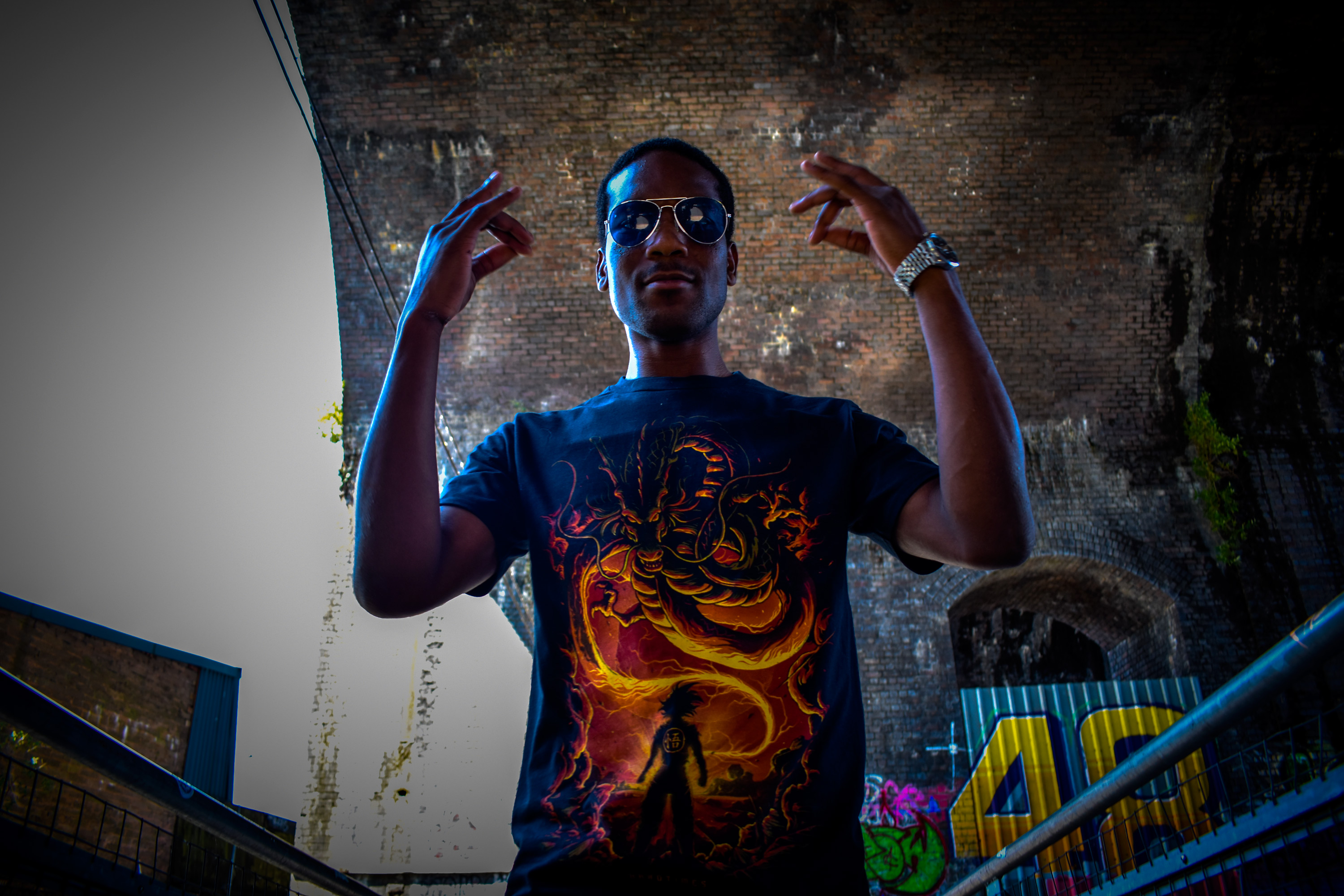 Hardtimes Tee over 9000 in the Arches Digbeth Birmingham