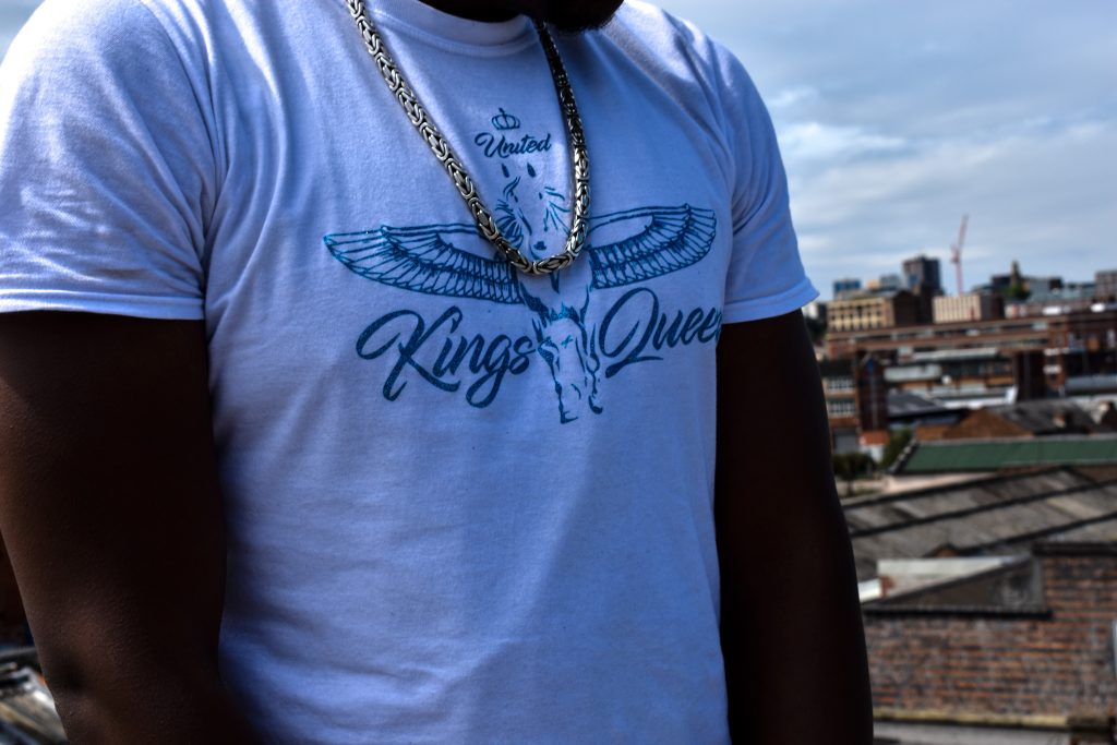 Blue and white united kings and queens Tee