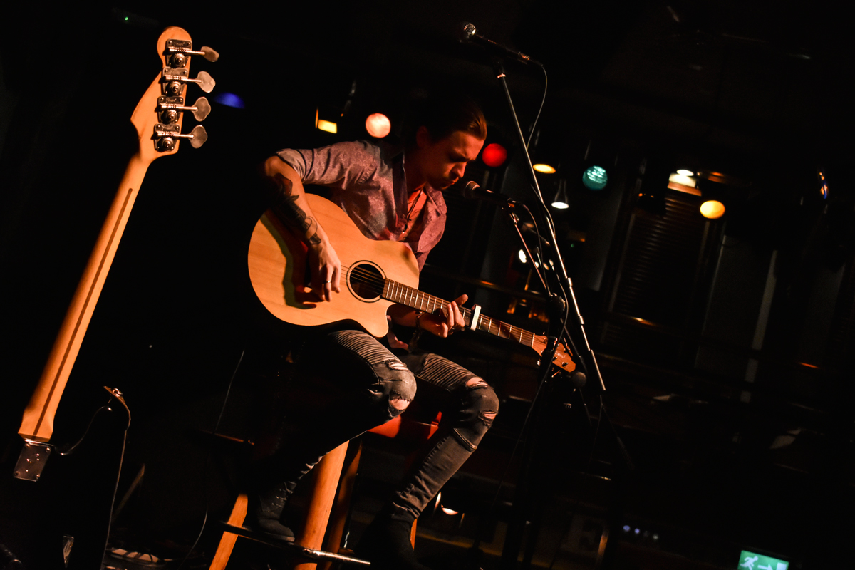 Anthony Price on stage at the Jamhouse with King-Sii