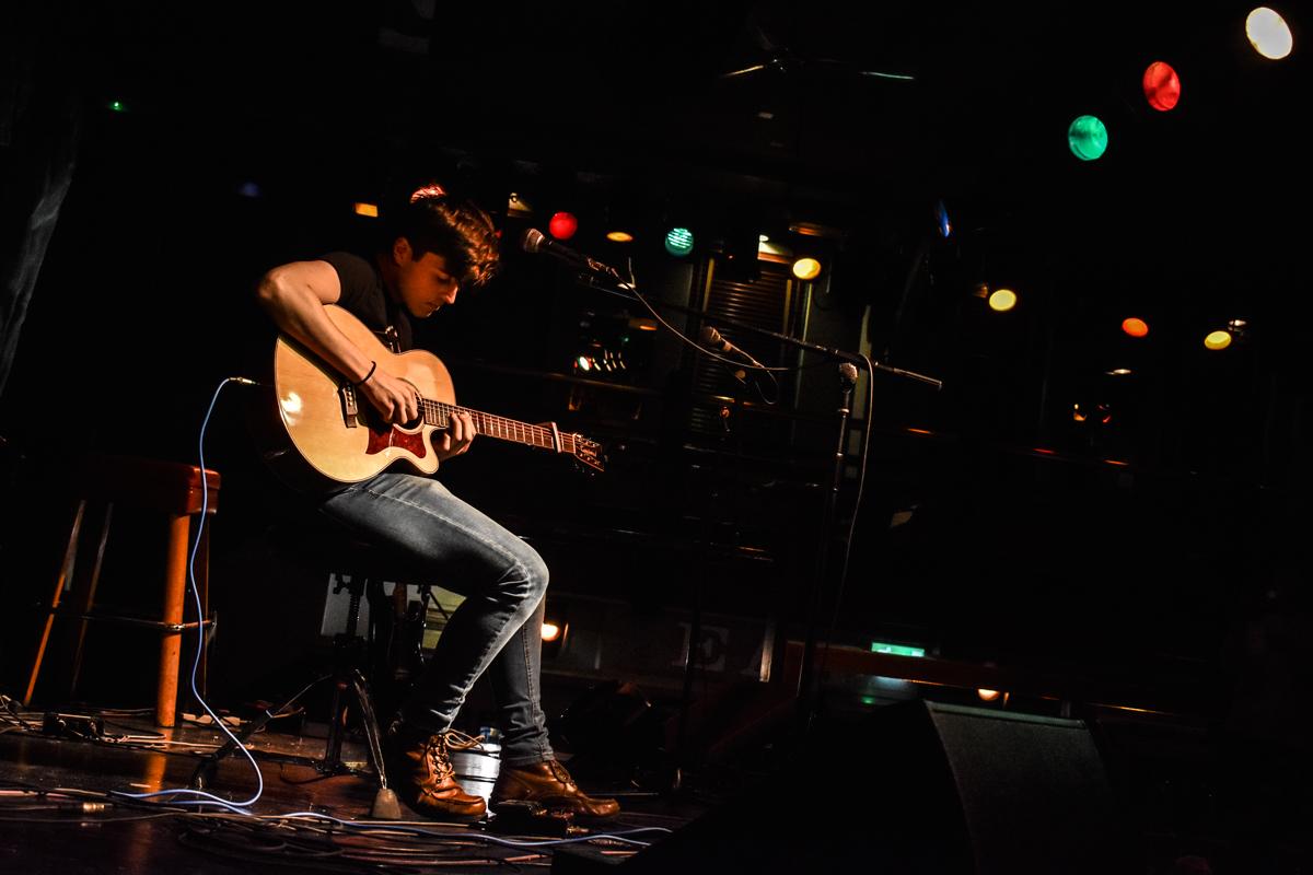 Sean Duggan performing at the Jam house Birmingham