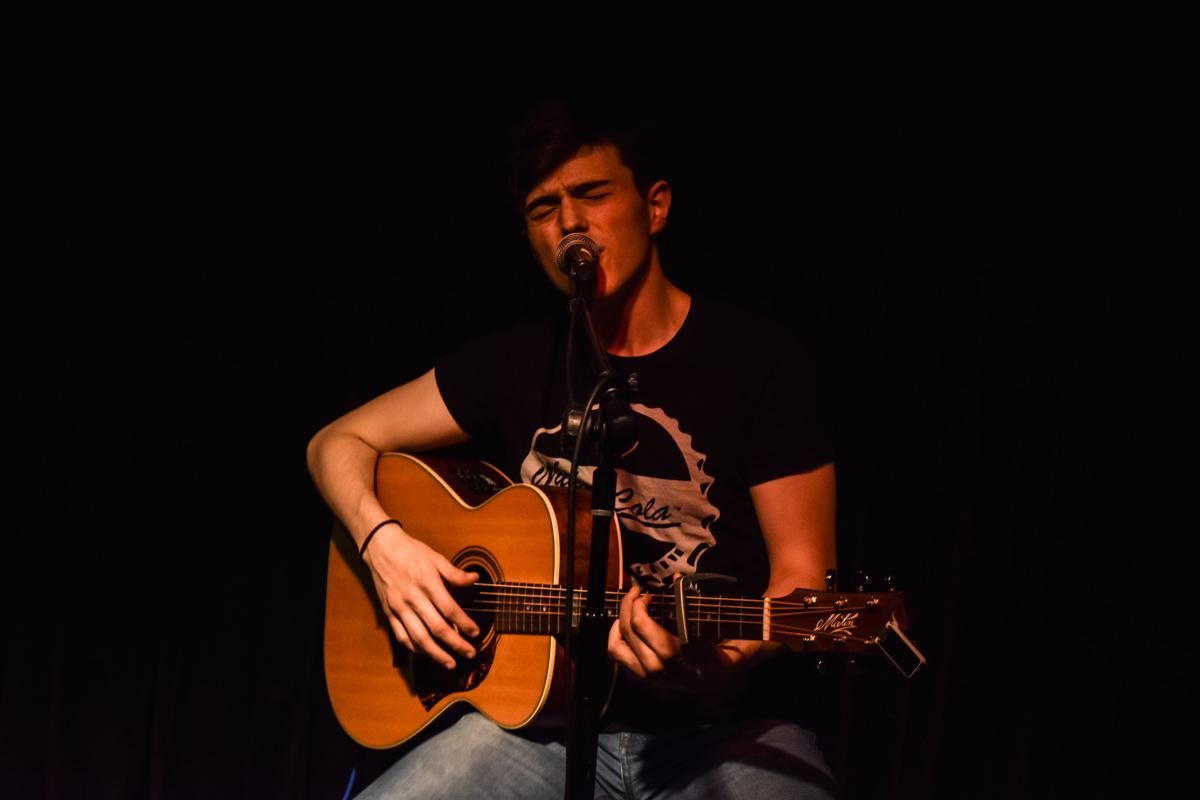 Sean Duggan at performing at the Jam house Birmingham