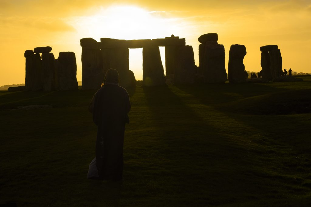 Stonehenge druids monuments and sunsets