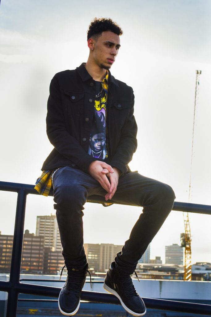 Brindley place with Cody having fun shooting fashion for instagram