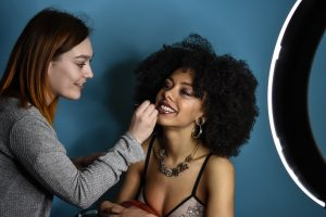 Sharon Jade & makeup artist Kate Benton in Halesowen